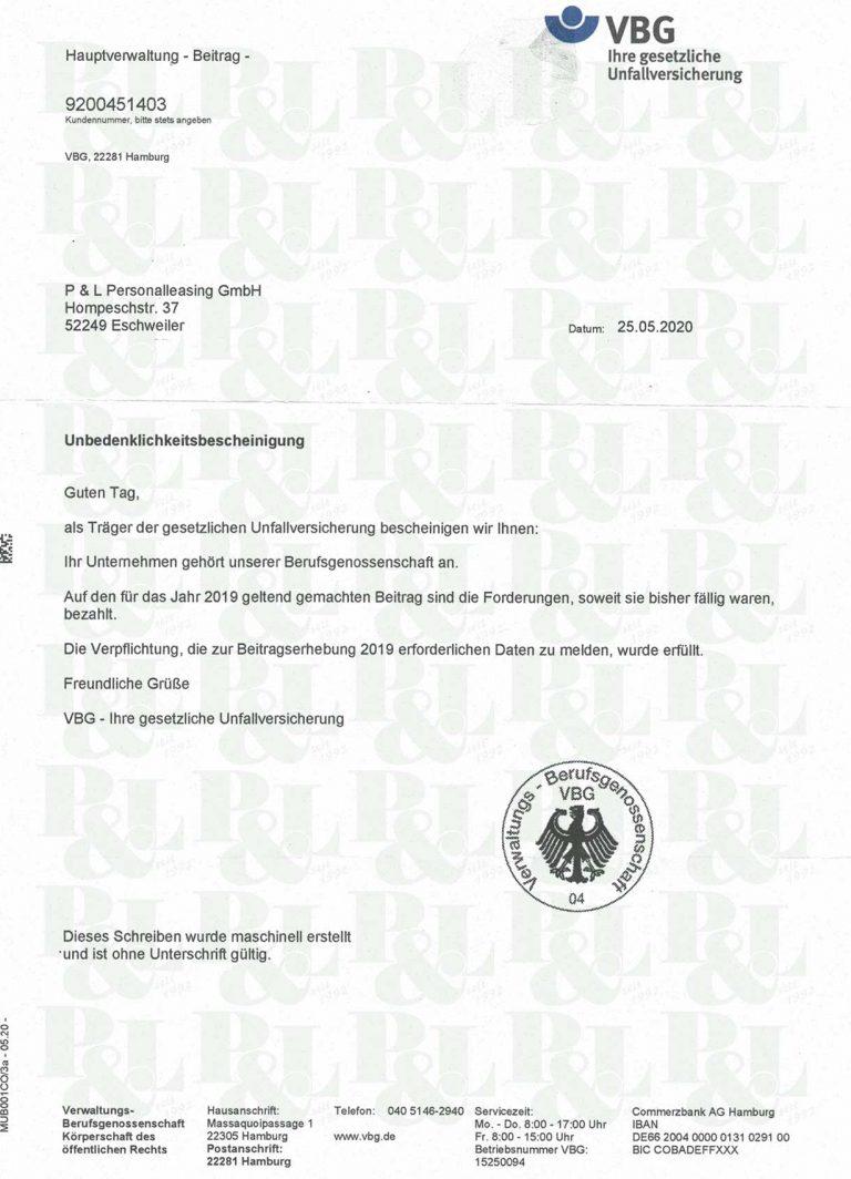 05_copyright-pl-bescheinigung_vbg-ges-unfallversicherung-unbedenklichkeitsbescheinigung-2020